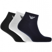 Product Image for Emporio Armani 3 Pack Trainer Socks